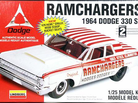 Lindberg 1/25 Ramchargers 1964 Dodge 330 SS
