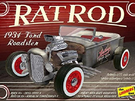 Lindberg 1/25 1934 Ford Roadster Rat Rod