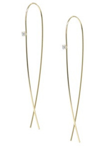 Linear Crystal Earrings - Gold or Silver