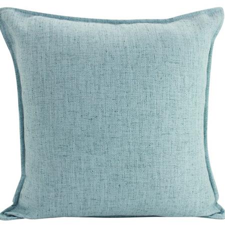 Linen Cushion Lt Blue 55x55cm