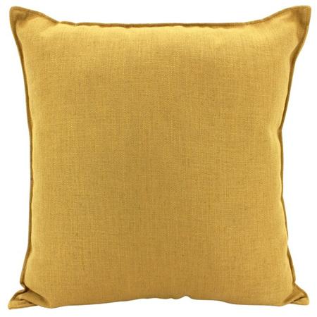 Linen Cushion Mustard 55x55cm