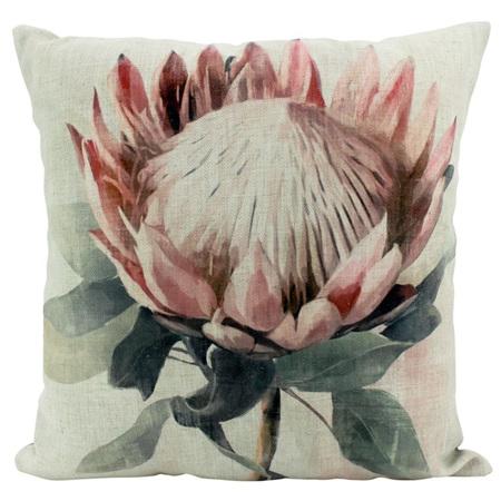 Linen Cushion Protea Single 50x50cm