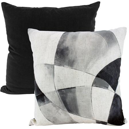 Linen / Velvet Cushion Twisted Bead Floral 50x50cm