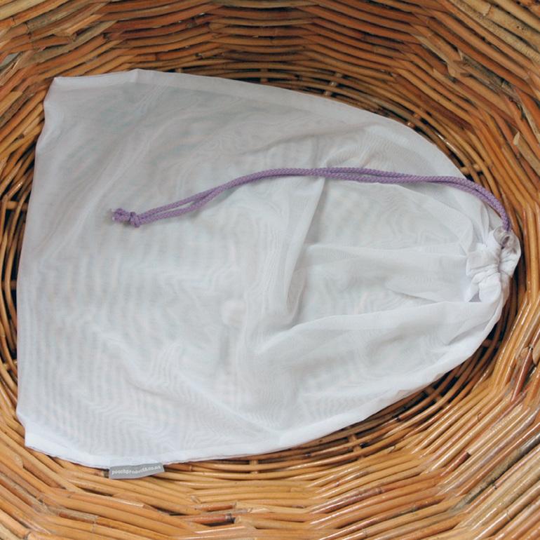 lingerie pouch - lilac cord - delicates wash bag