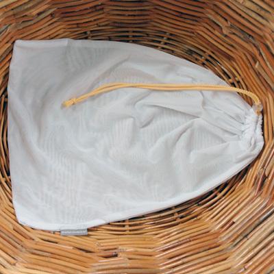 lingerie pouch   peach cord