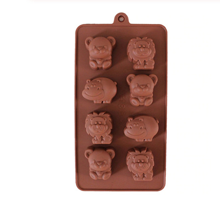 Lion, Hippo & Teddy Silicone Mould