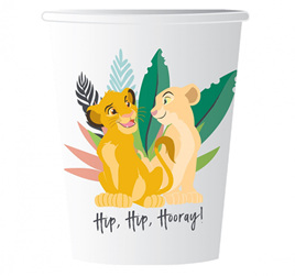 Lion King cups x 8.