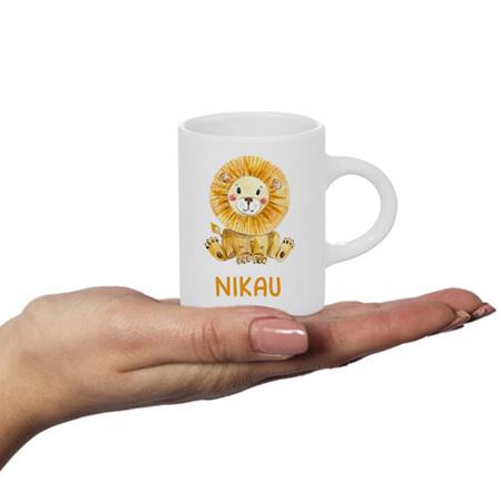Lion Personalised Fluffy Mug