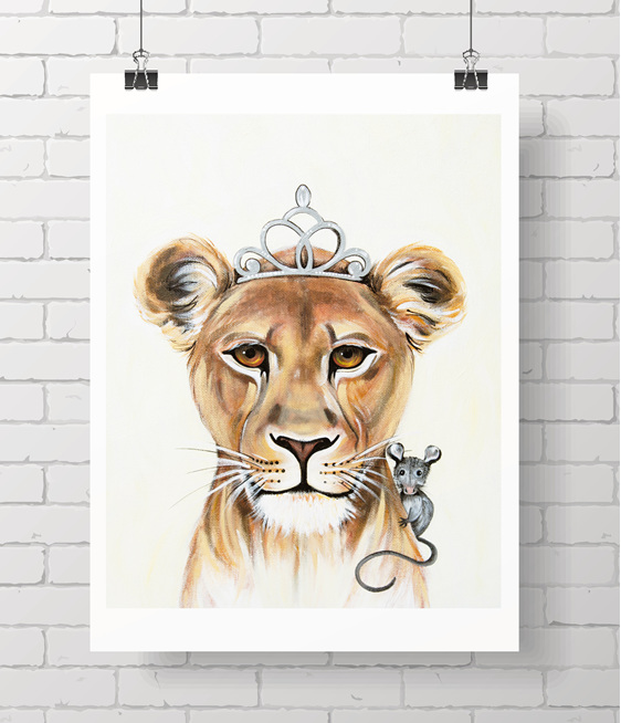 lioness and mouse