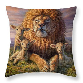 Lions with the Lambs Cushion Cover