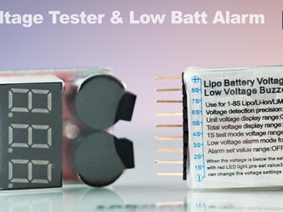 Lipo Voltage Tester & Low Batt Alarm