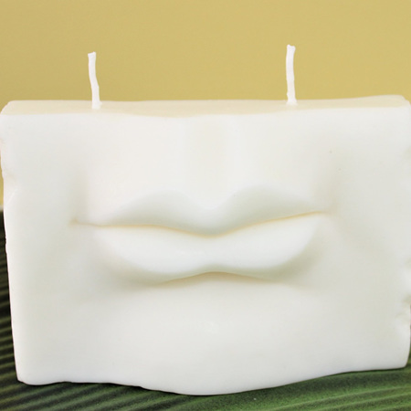 Lips Sculpture Candle