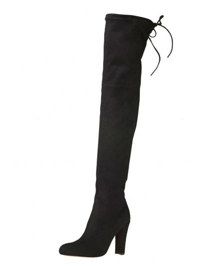 Lipstik Shoes - Skarlett Boot Black Micro