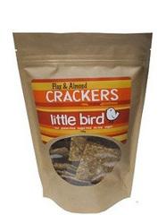 Little Bird Organics Flax & Almond Crackers 100gm