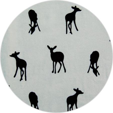 """Little Deer"", White, 100% Cotton Knit,                                  190 gsm"