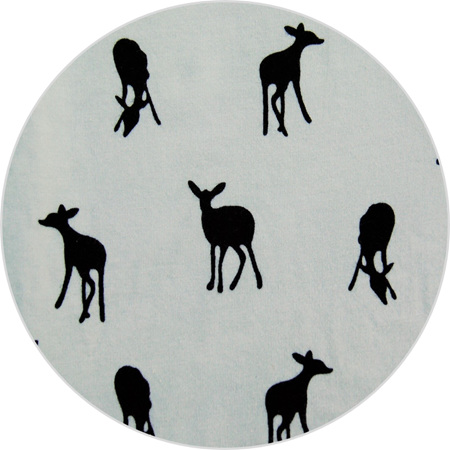 """Little Deer"", White, 100% Cotton Knit,                                  190 gsm"