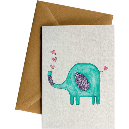 Little Difference Elephant Hearts Card
