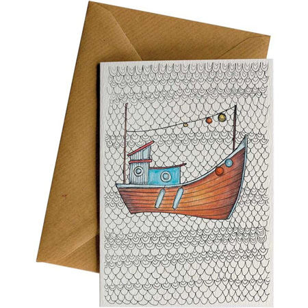 Little Difference Fishing Boat Card