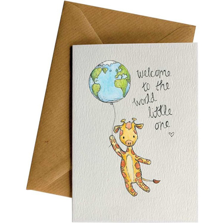 Little Difference Giraffe Welcome to the World Card