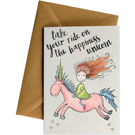 Little Difference Happiness Unicorn Card