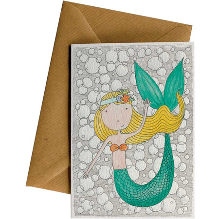 Little Difference Mermaid Birthday Card