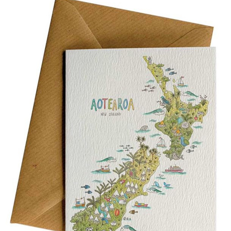 Little Difference NZ Nature Map Card