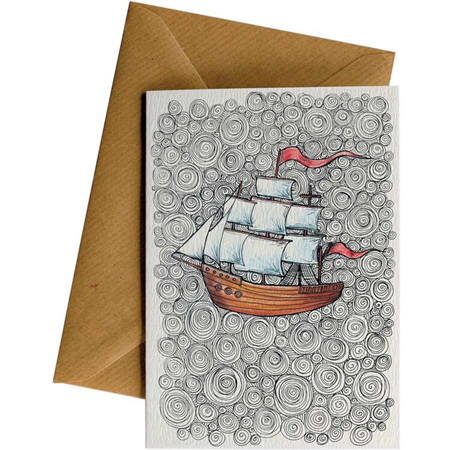 Little Difference Sailing Ship Card