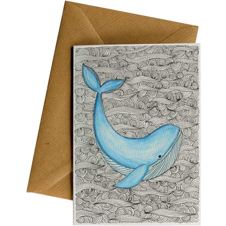 Little Difference Whale Card