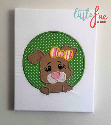 Little Girl Puppy Wall Hanging