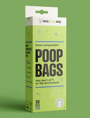 Little Green Dog compostable dog poop bags