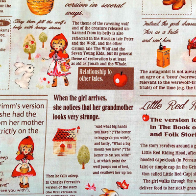 Little Heroines - Red Riding Hood News Paper