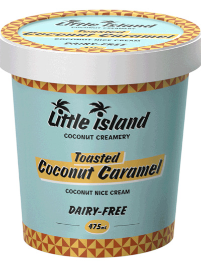 Little Island Organic Coconut Ice Cream Caramel 475ml