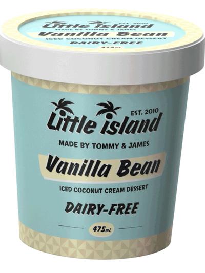 Little Island Organic Coconut Ice Cream Vanilla Bean 145ml