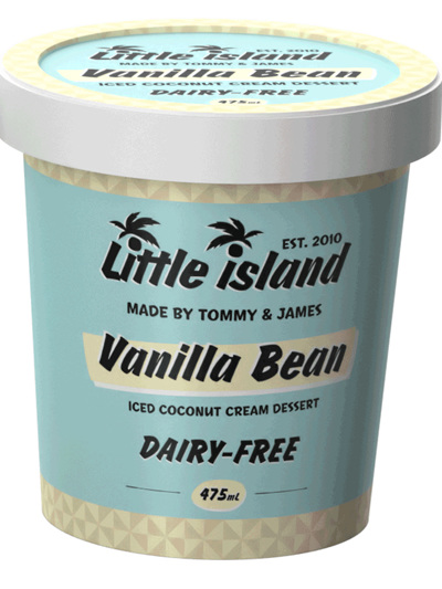 Little Island Organic Coconut Ice Cream Vanilla Bean 475ml