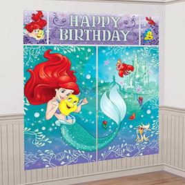 Little Mermaid Happy Birthday Scene Setter