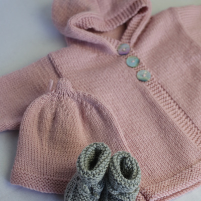 Little Mushroom Hooded Cardigan