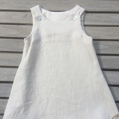 Little Mushroom Linen Dress