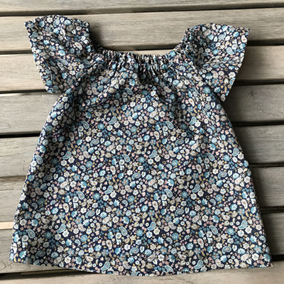 Little mushroom navy floral top and organic cotton tops