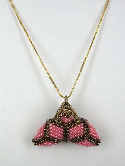 Little Purse Pendant Kit - Pink Diamond