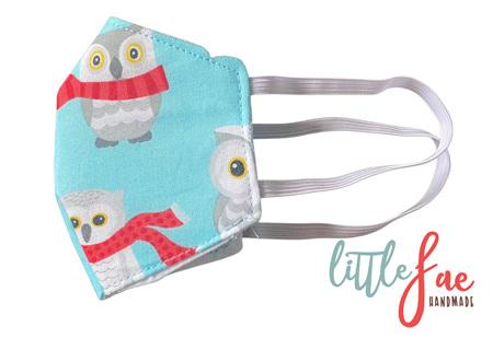 Little Snow Owl Face Masks