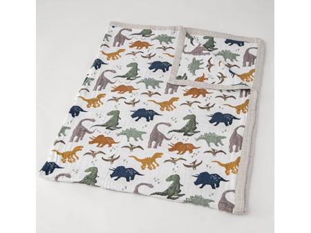 Little Unicorn Big Kids Cotton Muslin Quilt Dino Friends