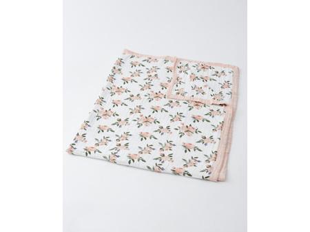 Little Unicorn Big Kids Cotton Muslin Quilt - Watercolour Roses