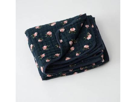 Little Unicorn -- Cotton Muslin Quilt Midnight Rose