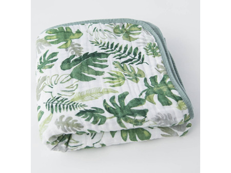Little Unicorn - Cotton Muslin Quilt Tropical Leaf