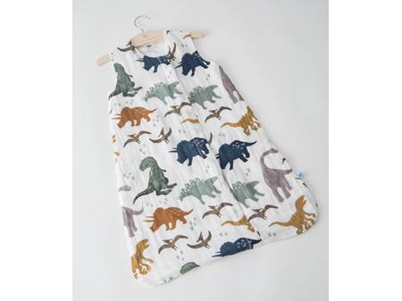 Little Unicorn Cotton Muslin Sleeping Bag Dino Friends Large 12 - 18 Months