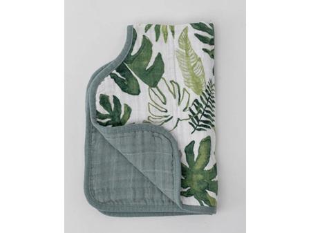 Little Unicorn -- Muslin Burp Cloth Tropical Leaf