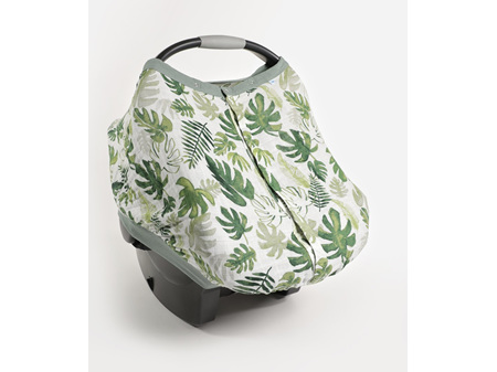 Little Unicorn Muslin Car Seat Canopy V2 Tropical Leaf
