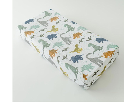 Little Unicorn Muslin Changing Pad Cover Dino Friends