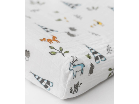 Little Unicorn Muslin Changing Pad Cover Forest Friends