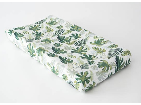 Little Unicorn Muslin Changing Pad Cover Tropical Leaf